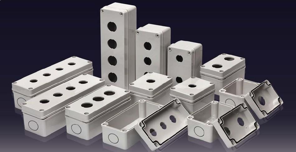 塑料按钮盒1-5孔