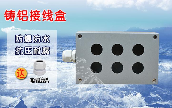 鑄鋁按鈕盒6孔